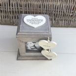 Shabby Chic PERSONALISED Photo Frame Box Nanny Nana Granny Grandma Nan ANY NAMES - 332870176161